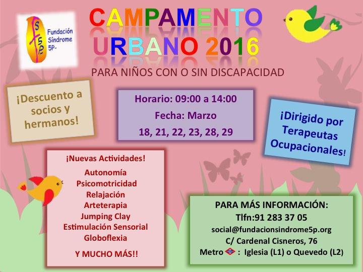 Campamento Urbano en Semana Santa