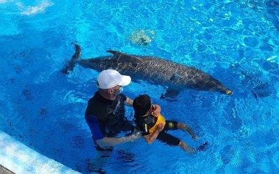 Vuelve la delfinoterapia a la Fundación 5p