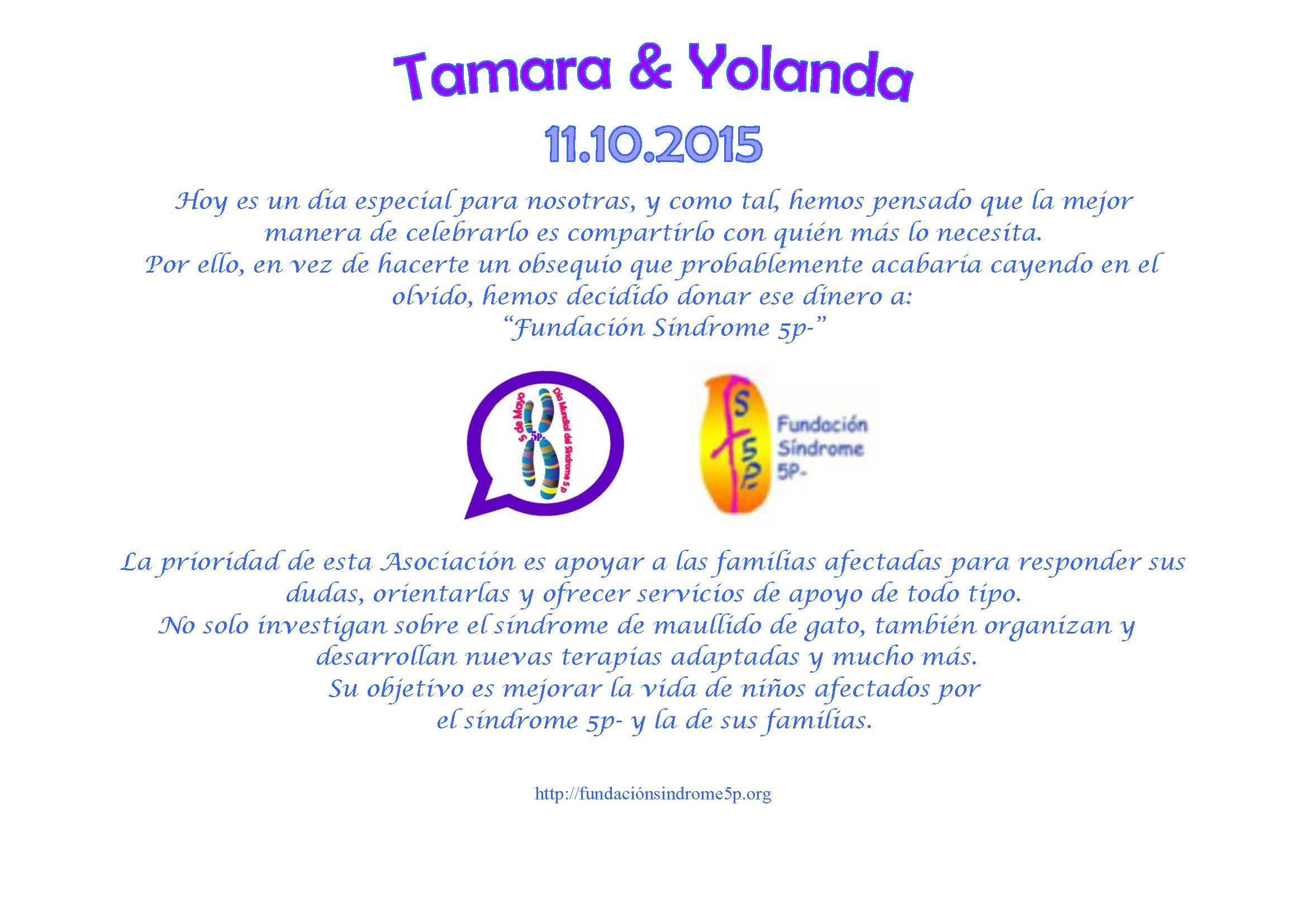 Enlace de Yoli y Tamara