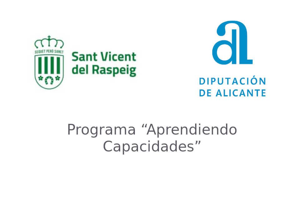 Agradecimientos al Ayuntamiento de San Vicente y a la Diputación de Alicante