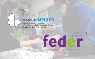 Agradecimiento a FEDER y a Fundación Mutua Madrileña